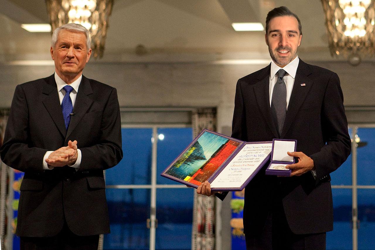 Nicolás García Boccia recibió el premio Nobel de la Paz