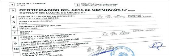 como solicitar el Certificado de defunción